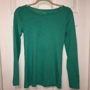 J.Crew - Teal Scoop-Neck Long-Sleeve Shirt